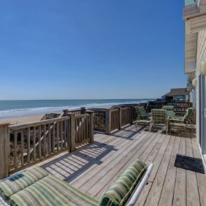 Merging the outside and inside with a Topsail oceanfront deck | Century 21 Action Topsail NC Real Estate