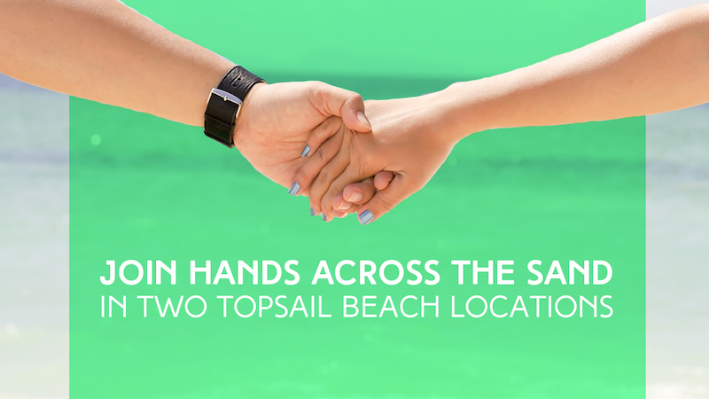 Hands Across The Sand in Two Topsail Beach Locations