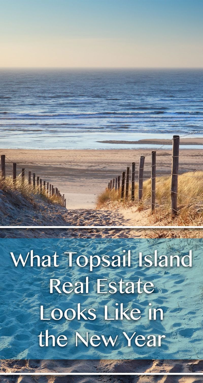 Topsail Island Real Estate in the New Year Pin