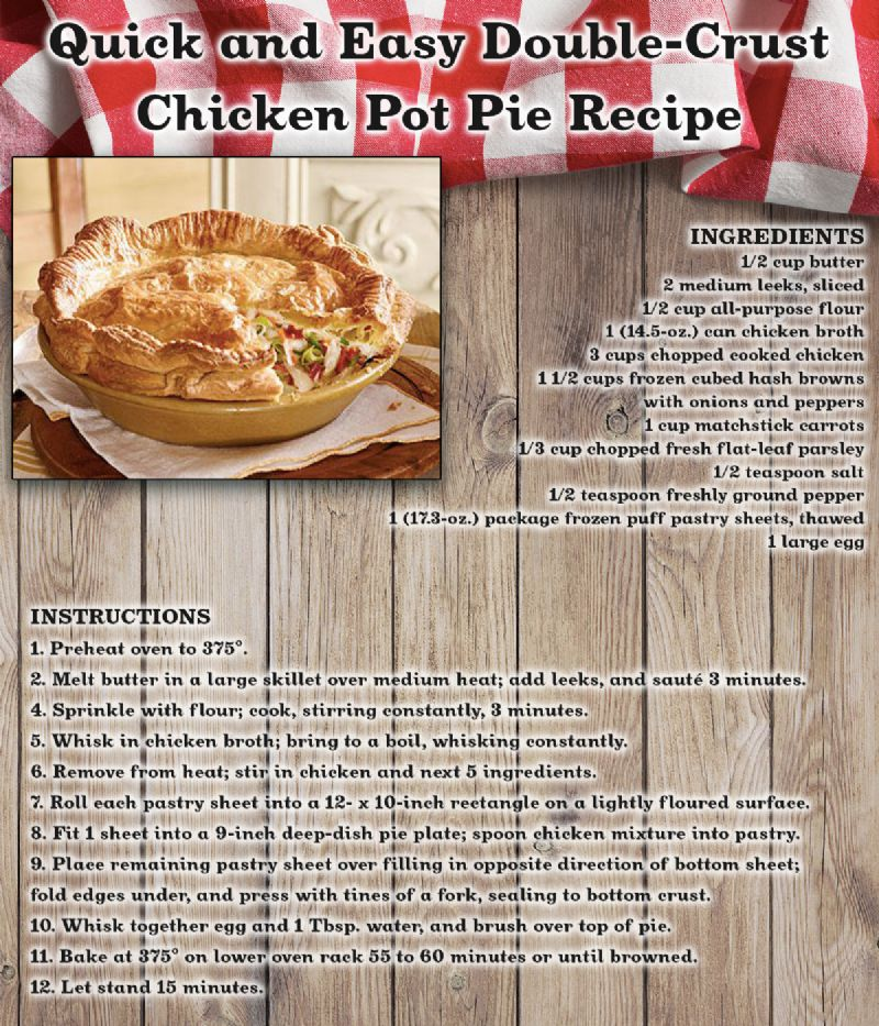 Double-Crust Chicken Pot Pie Recipe Card