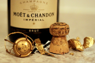 Moet Champagne for New Year's Eve